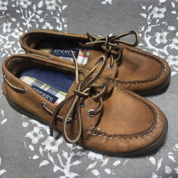 Sperry Boat Shoes Leather Non Marking Size 6 5